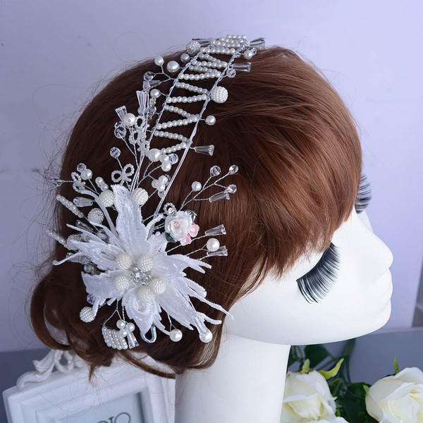 White Rhinestone Headbands #LDB03020089