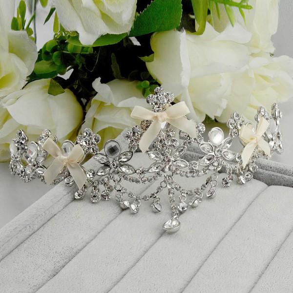 Silver Crystal Tiaras