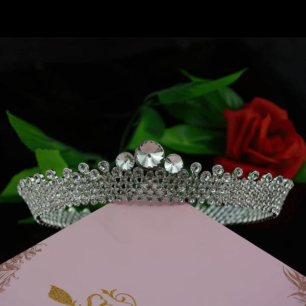 Silver Alloy Tiaras #LDB03020144