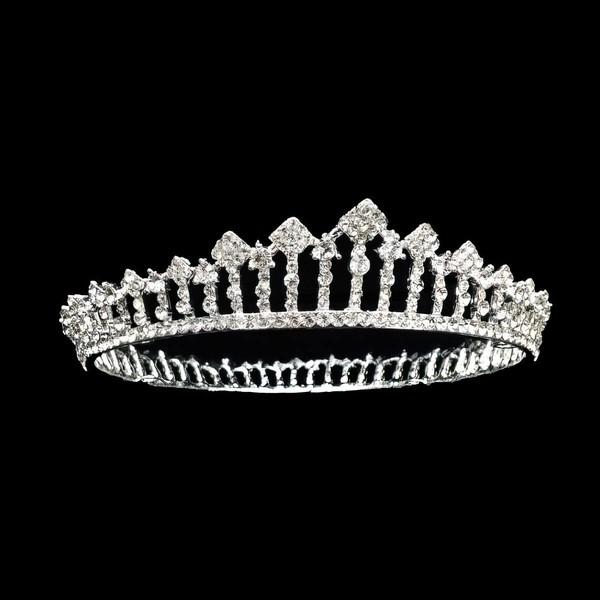 Silver Alloy Tiaras #LDB03020164