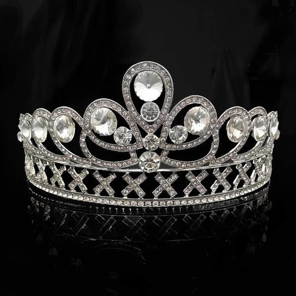 Silver Alloy Tiaras #LDB03020165