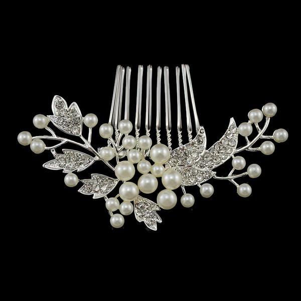 Silver Alloy Combs & Barrettes #LDB03020214