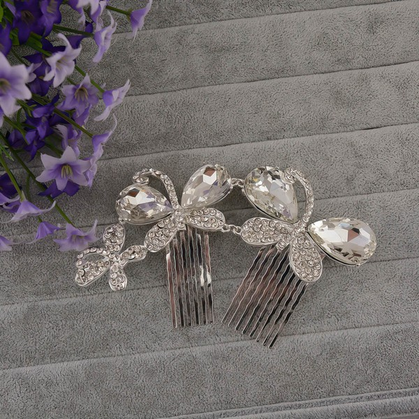 Silver Alloy Combs & Barrettes
