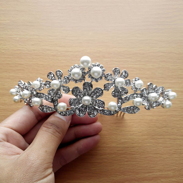 White Alloy Combs & Barrettes #LDB03020229