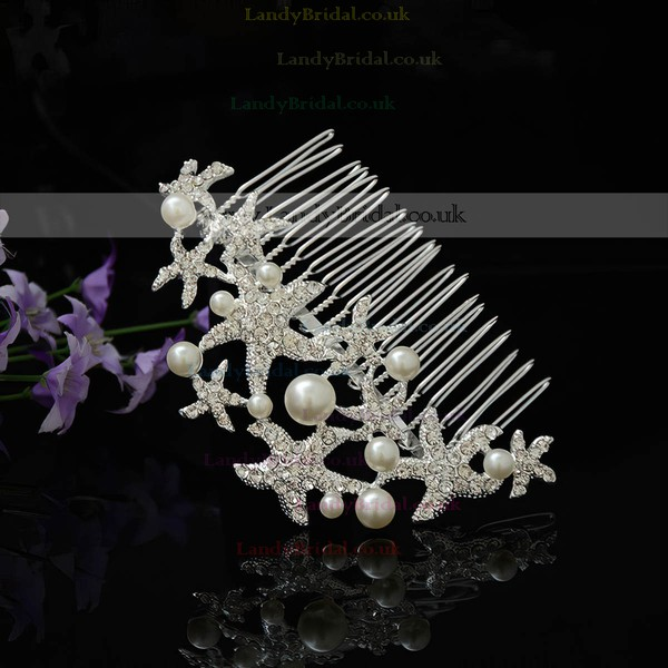 Ivory Alloy Combs & Barrettes