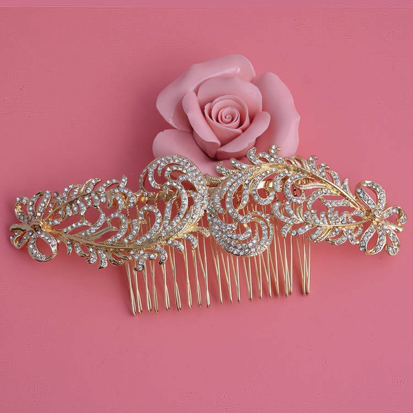 Gold Alloy Combs & Barrettes #LDB03020236