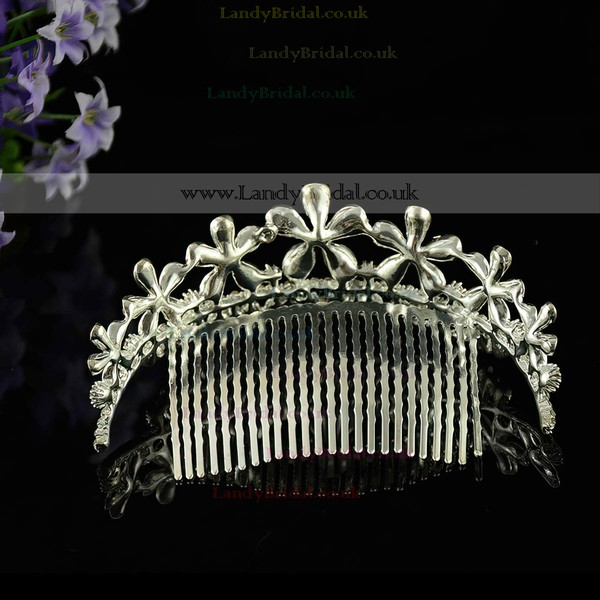 White Alloy Combs & Barrettes #LDB03020243