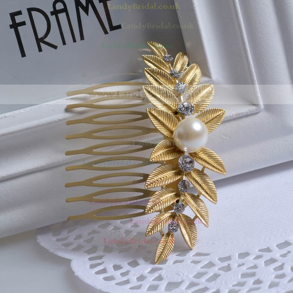Light Gold Alloy Combs & Barrettes #LDB03020246