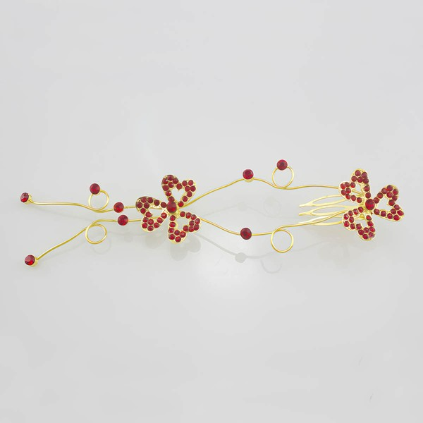 White Alloy Combs & Barrettes #LDB03020249