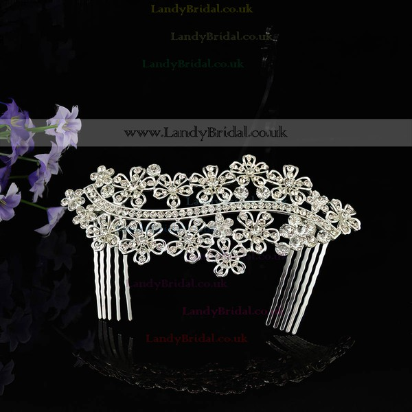 White Alloy Combs & Barrettes #LDB03020252