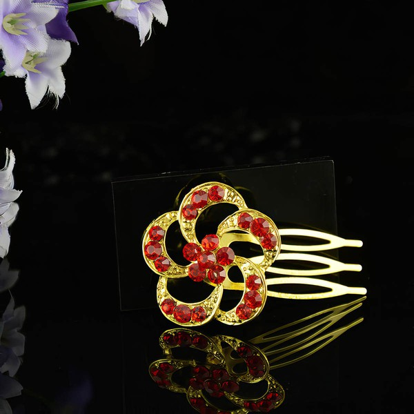 Red Alloy Hairpins #LDB03020254