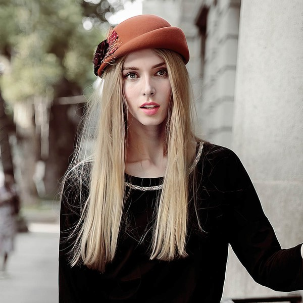 Black Wool Beret Hat #LDB03100001