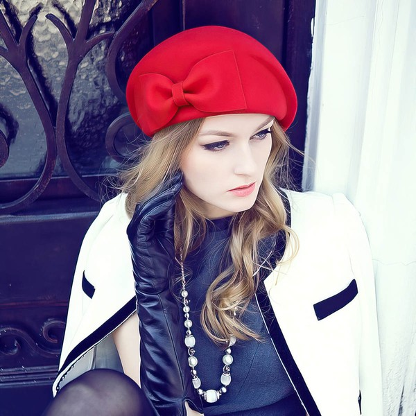 Black Wool Beret Hat #LDB03100003