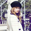 Black Wool Beret Hat #LDB03100005