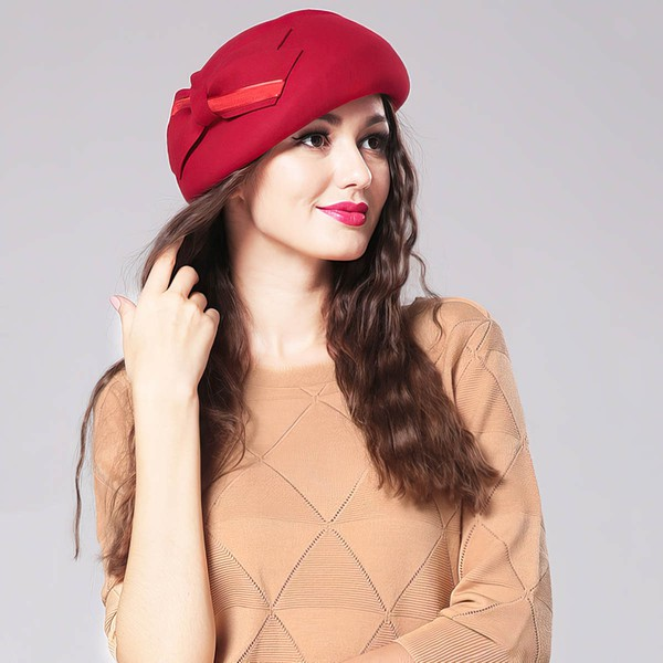 Red Wool Beret Hat #LDB03100009