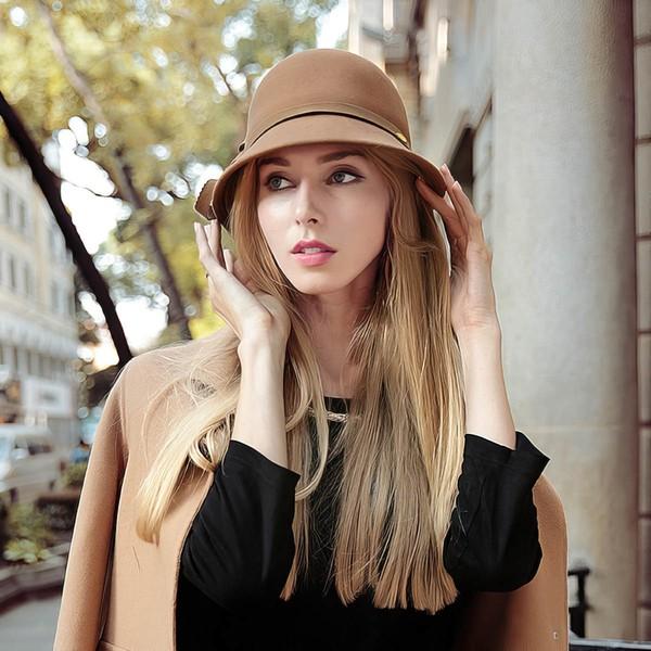 Black Wool Bowler/Cloche Hat #LDB03100024