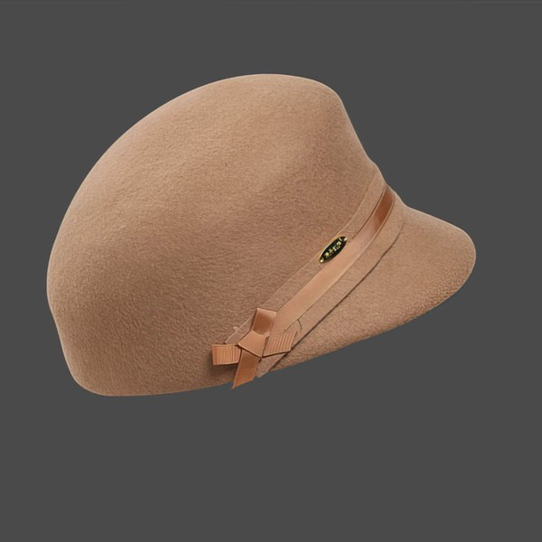 Light Camel Wool Bowler/Cloche Hat #LDB03100025