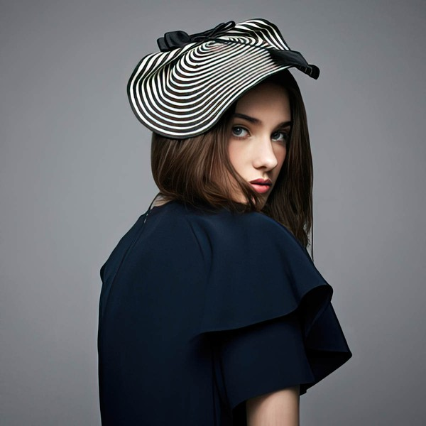 Black Papyrus Fascinators #LDB03100027
