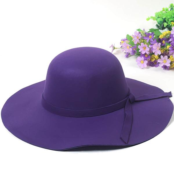 Black Wool Bowler/Cloche Hat #LDB03100033