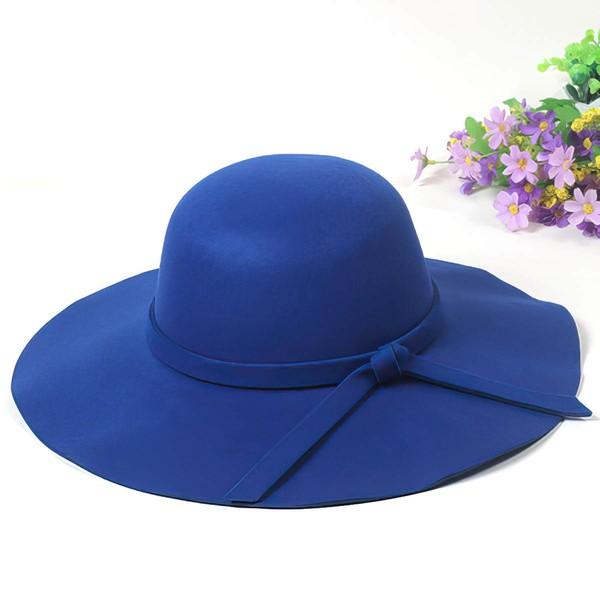 Black Wool Bowler/Cloche Hat