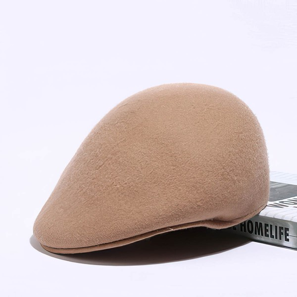 Black Wool Beret Hat #LDB03100038