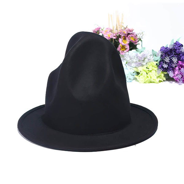 Black Wool Bowler/Cloche Hat #LDB03100039