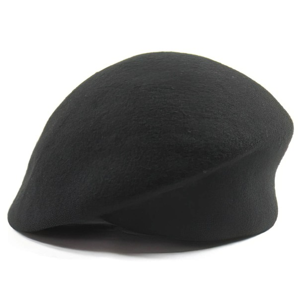 Black Wool Beret Hat #LDB03100043
