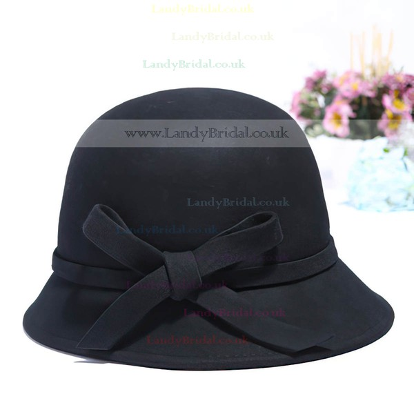 Black Wool Beret Hat
