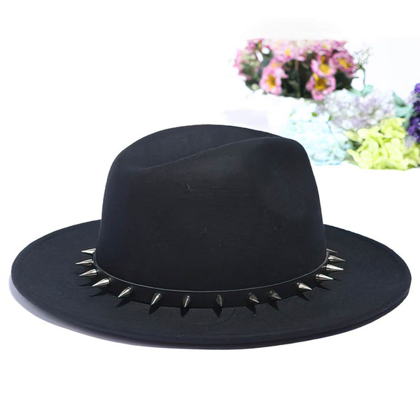 Black Wool Bowler/Cloche Hat #LDB03100047