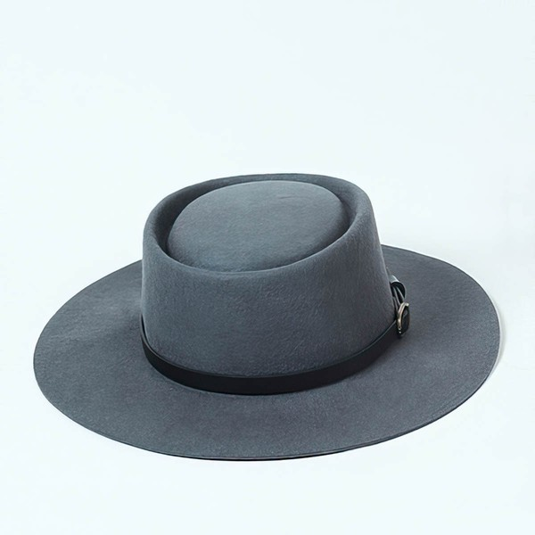 Blue Wool Bowler/Cloche Hat #LDB03100048