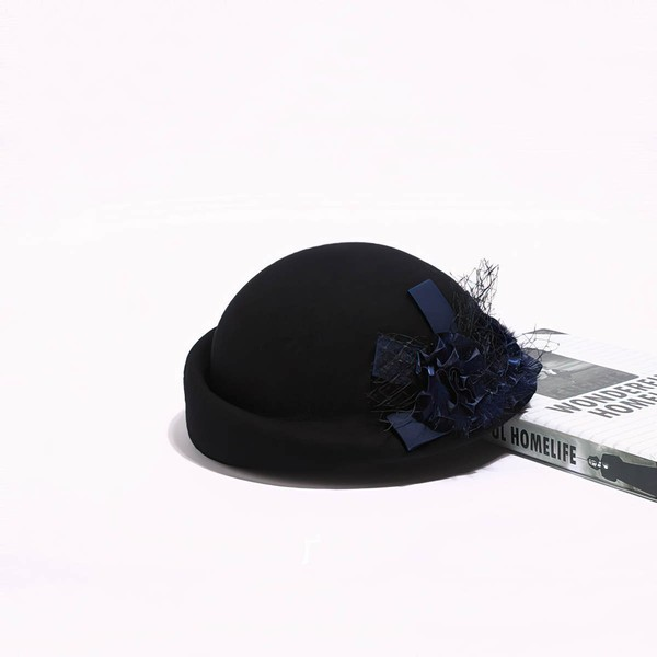 Black Wool Beret Hat #LDB03100049