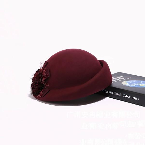 Black Wool Beret Hat