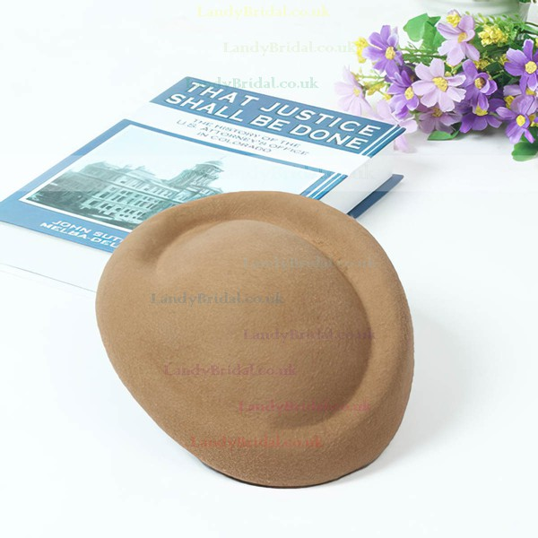 White Wool Beret Hat