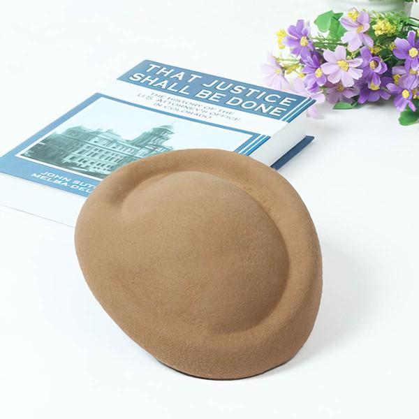 White Wool Beret Hat