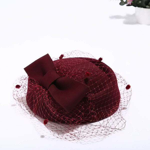 White Wool Fascinators #LDB03100062