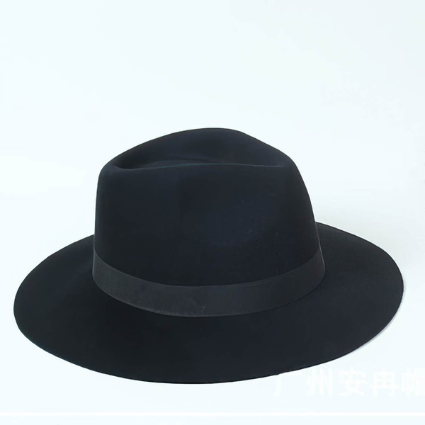 Black Wool Bowler/Cloche Hat #LDB03100068