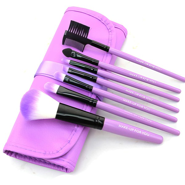 Artificial Fibre Travel Makeup Brush Set in 7Pcs