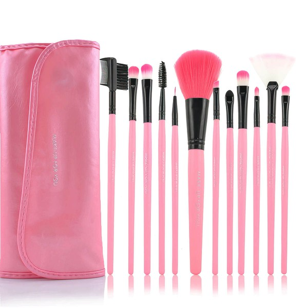 Nylon Professional Makeup Brush Set in 12Pcs #LDB03150009