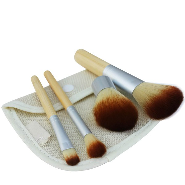 Nylon Travel Makeup Brush Set in 4Pcs