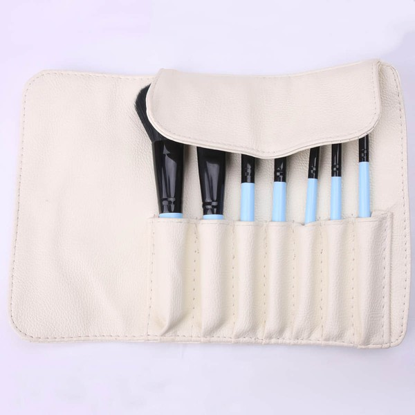 Natural Goat Hair Travel Makeup Brush Set in 7Pcs #LDB03150011