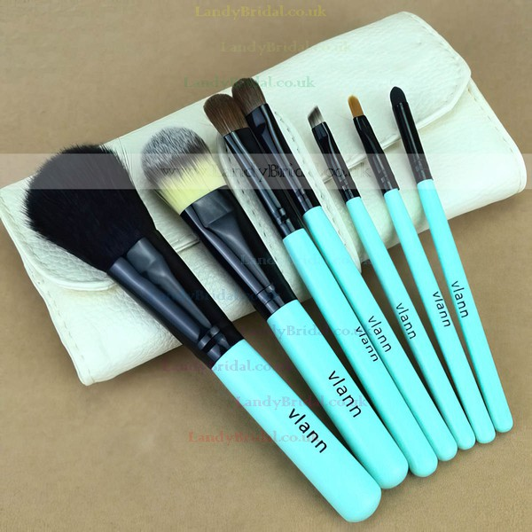 Natural Goat Hair Travel Makeup Brush Set in 7Pcs