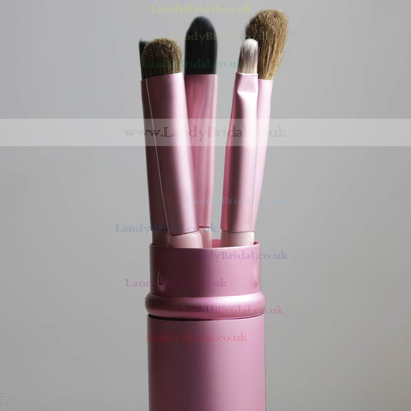 Pony Hair Travel Makeup Brush Set in 5Pcs