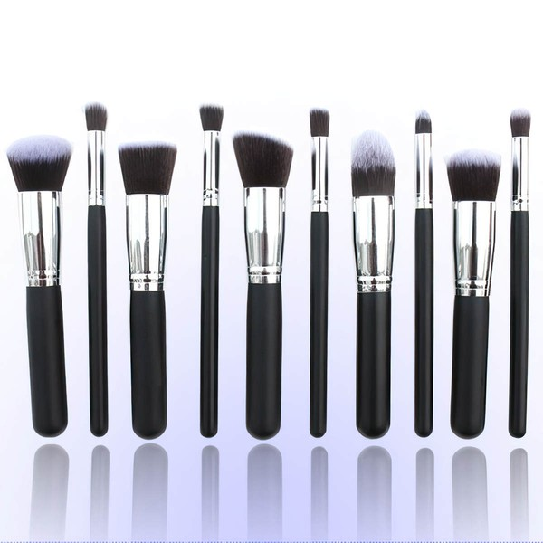 Nylon Professional Makeup Brush Set in 10Pcs #LDB03150034