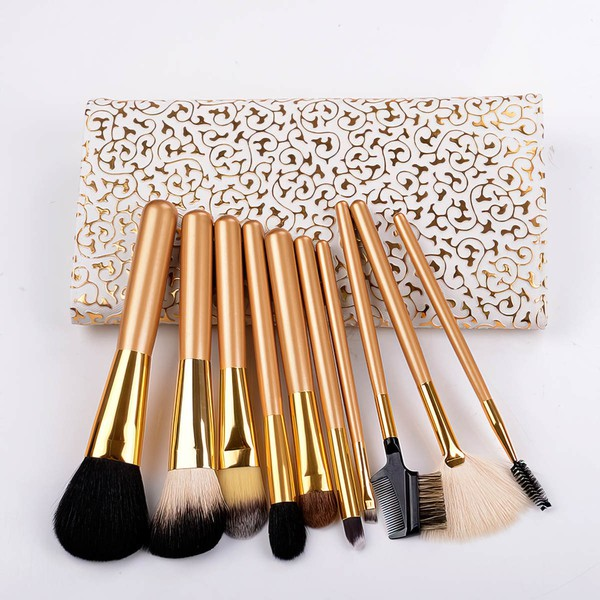 Nylon Professional Makeup Brush Set in 10Pcs