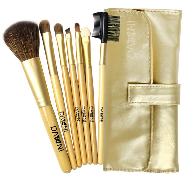 Natural Goat Hair Travel Makeup Brush Set in 7Pcs #LDB03150042
