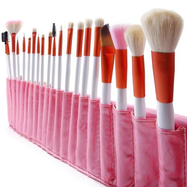 Natural Goat Hair Professional Makeup Brush Set in 20Pcs