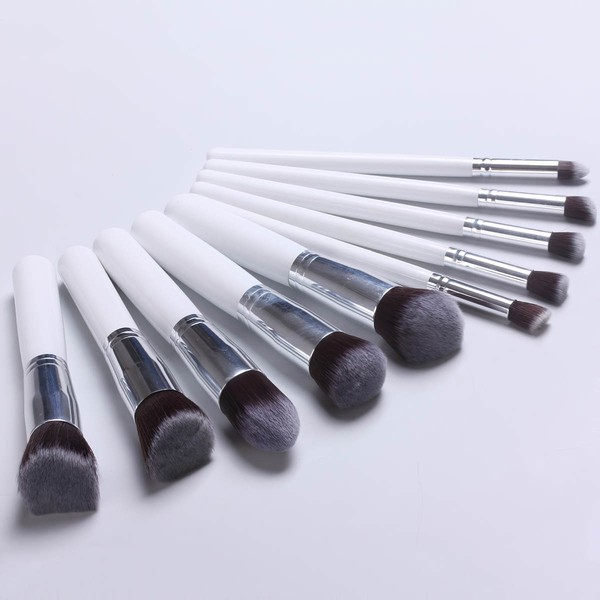 Nylon Professional Makeup Brush Set in 10Pcs #LDB03150046