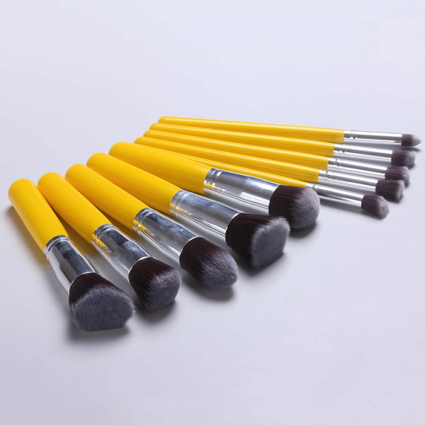 Nylon Professional Makeup Brush Set in 10Pcs #LDB03150057