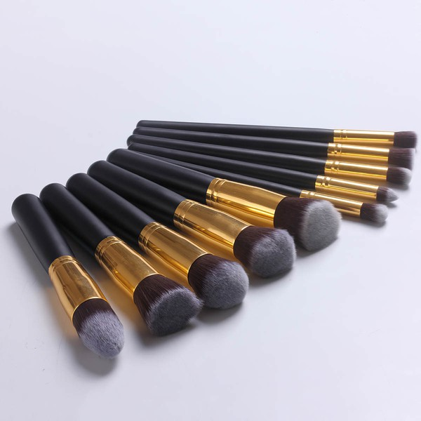 Nylon Professional Makeup Brush Set in 10Pcs #LDB03150059