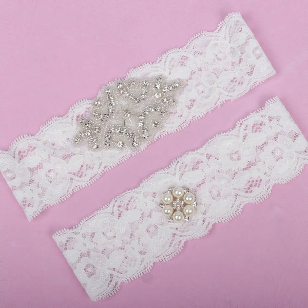 Lace Garters with Pearl/Crystal #LDB03090001